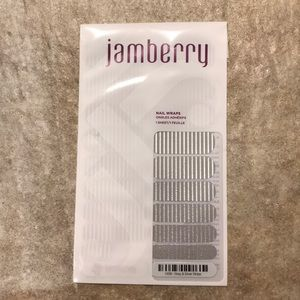 Jamberry Gray and Silver Stripe